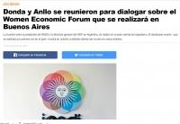 Donda y Anllo se reunieron para dialogar sobre el Women Economic Forum que se realizará en Buenos Aires