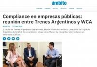 Compliance en empresas públicas: reunión entre Trenes Argentinos y WCA