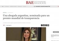 Una abogada argentina, nominada para un premio mundial de transparencia