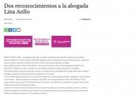 Dos reconocimientos a la abogada Lina Anllo