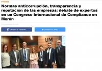 Normas anticorrupción, transparencia y reputación de las empresas: debate de expertos en un Congreso Internacional de Compliance en Morón